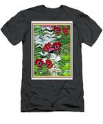Flower Mania Anemone Fantasy Wave Design Created Of Garden Colors Unique Elegant Decorations Men's T-Shirt (Athletic Fit)
