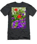 Flowers Of Bethany Beach - Petunias Men's T-Shirt (Athletic Fit)