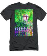 Gate With Lantern Men's T-Shirt (Athletic Fit)