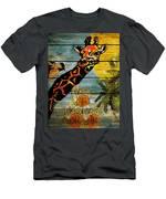 Giraffe Rustic Men's T-Shirt (Athletic Fit)