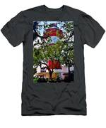Harbour Town Lighthouse Men's T-Shirt (Athletic Fit) by Lisa Wooten
