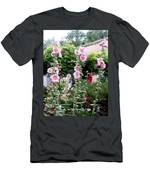 Hollyhocks Taos New Mexico Men's T-Shirt (Athletic Fit)