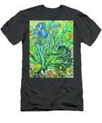 Irises Ala Van Gogh Men's T-Shirt (Athletic Fit)