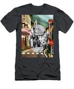 La Comacina Ristorante-colonno, Ital Men's T-Shirt (Athletic Fit)