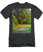 Lounging On The Green Men's T-Shirt (Athletic Fit)