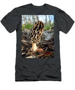 Morel Mushroom Men's T-Shirt (Athletic Fit)