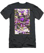 Moveonart Abstract Visual Therapy With Purple Heart Men's T-Shirt (Athletic Fit)
