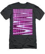 Moveonart Abstract Waves And Light One Men's T-Shirt (Athletic Fit)