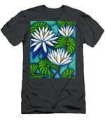 Nymphaea Blue Men's T-Shirt (Athletic Fit)