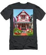 Oak Bluffs Gingerbread Cottages 2 Men's T-Shirt (Athletic Fit)