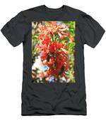 Orange Trumpet Flower Men's T-Shirt (Athletic Fit)