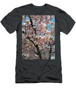 Pink Cherry Blossoms Men's T-Shirt (Athletic Fit)