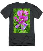 Pink Sweet Peas In Huntington Gardens In San Marino-california Men's T-Shirt (Athletic Fit)