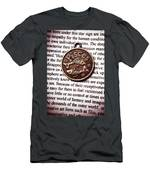 Pisces In A Sea Of Text Men's T-Shirt (Athletic Fit)