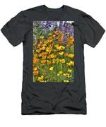 Poppies And Lupines Men's T-Shirt (Athletic Fit)
