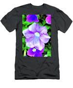 Purple Petunias 2 Men's T-Shirt (Athletic Fit)