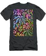 Red Leaf Hibiscus Men's T-Shirt (Athletic Fit)