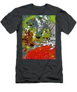 Red Peacock Men's T-Shirt (Athletic Fit)
