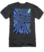 Saguaro Forest Abstract #2 Men's T-Shirt (Athletic Fit)