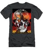 Skull Times Three Larger Size Men's T-Shirt (Athletic Fit)