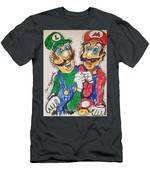 Super Mario Brothers Men's T-Shirt (Athletic Fit)