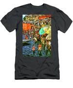 The Bathing Ghats Men's T-Shirt (Athletic Fit)