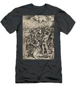 The Martyrdom Of St. Catherine Of Alexandria Men's T-Shirt (Athletic Fit)
