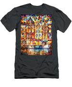 The Three Friends - Palette Knife Oil Painting On Canvas By Leonid Afremov Men's T-Shirt (Athletic Fit)