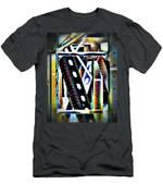 Trestle Detail Black White Grey Men's T-Shirt (Athletic Fit)