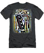 Trestle Detail Black Yellow Men's T-Shirt (Athletic Fit)