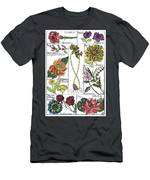 Twelve Month Flower Box Men's T-Shirt (Athletic Fit) by Barbara McConoughey
