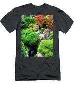 Waterfalls In Japanese Garden Men's T-Shirt (Athletic Fit)