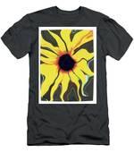 Waving Sunflower Men's T-Shirt (Athletic Fit)