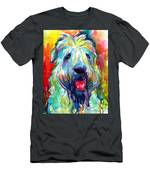 Wheaten Terrier Dog Portrait Men's T-Shirt (Athletic Fit)
