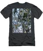 Wild Cherry Tree Blossoms On Verona Men's T-Shirt (Athletic Fit)