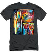 Wine Lovers Abstract Men's T-Shirt (Athletic Fit)