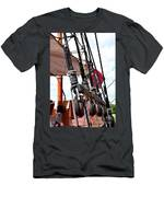 Wooden Ship Blocks And Tackle 13921 Men's T-Shirt (Athletic Fit)