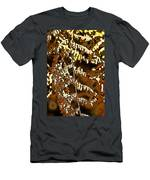 Yellow Autumn Leaves Fern Men's T-Shirt (Athletic Fit)