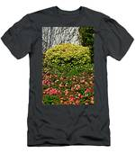 Yellow Coleus And Lantana At Pilgrim Place In Claremont-california Men's T-Shirt (Athletic Fit)