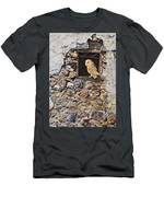 A New Home Barn Owl Men's T-Shirt (Athletic Fit) by Alan M Hunt