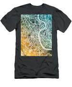 Frankfurt Germany City Map Men's T-Shirt (Athletic Fit)