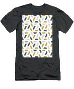 Geometric Painting 18 Men's T-Shirt (Athletic Fit) by Arttantra
