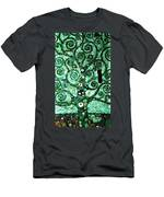 Tree Of Life Abstract Expressionism Men's T-Shirt (Athletic Fit)