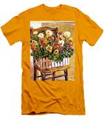 Chair Of Flowers Men's T-Shirt (Athletic Fit)