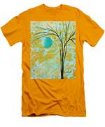 Abstract Landscape Painting Animal Print Pattern Moon And Tree By Madart Men's T-Shirt (Athletic Fit)