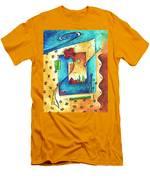 Abstract Pop Art Landscape Floral Original Painting Joyful World By Madart Men's T-Shirt (Athletic Fit)
