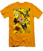 Many Butterflies On Mums Men's T-Shirt (Athletic Fit)