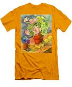 Roses And Pansies Men's T-Shirt (Athletic Fit)