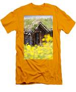 Behind Yellow Flowers Men's T-Shirt (Athletic Fit)