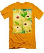 Yellow Flowers Laugh In Joy Men's T-Shirt (Athletic Fit)